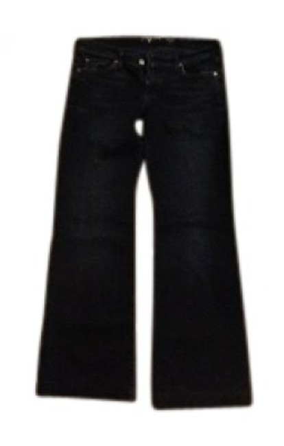 Preload https://item1.tradesy.com/images/7-for-all-mankind-blue-black-flare-leg-jeans-size-30-6-m-17540-0-0.jpg?width=400&height=650