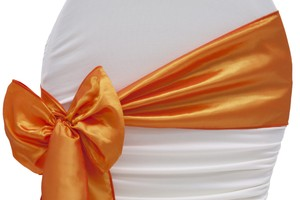 Orange Chair Sashes- Satin
