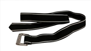 Express Express Reversible Black & White Ribbon Belt