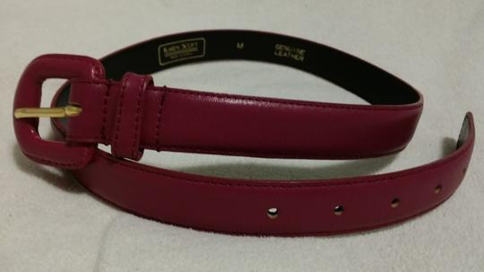 Karen Scott Karen Scott Magenta Leather Belt