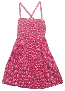 Abercrombie & Fitch short dress Pink, White on Tradesy