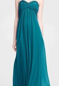 David's Bridal Jade Chiffon F14867 Formal Bridesmaid/Mob Dress Size 10 (M)