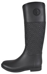 Tory Burch Rubber Black Boots