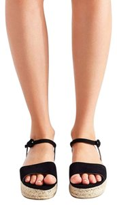 Urban Outfitters Espadrille Sandal Black Sandals