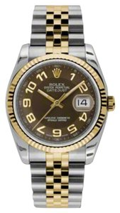 Rolex Rolex New Style Pre Owned Datejust Steel and Yellow Gold 36mm