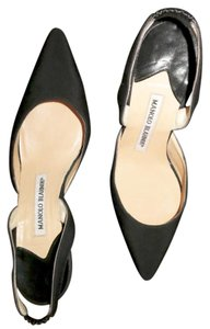 Manolo Blahnik Heel Slingback Black Formal