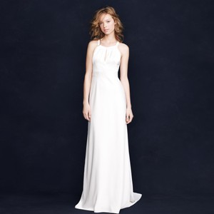 J.Crew Ivory Silk Bettina Vintage Wedding Dress Size 10 (M)