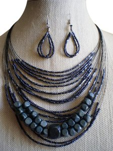 Other New Seed Beads, Wood Necklace and Earrings