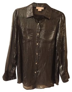 Michael Kors Button Down Shirt Bronze