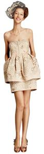 Anthropologie Peplum Vintage Pockets Embroidered Sweetheart Dress