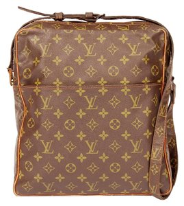 Louis Vuitton Monogram Canvas Rare Brown Messenger Bag