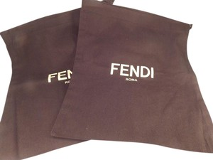 Fendi FENDI (2) BRAND NEW DARK BROWN SHOE TRAVEL/DUST BAGS