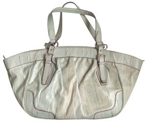 Dolce&Gabbana Silver Hw Leopard Lining Tote in Sage Green