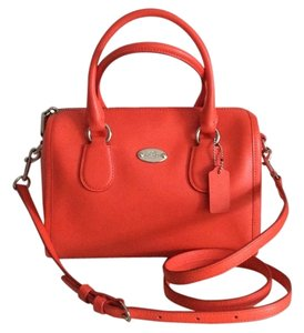Coach Satchel in Coral