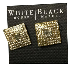 White House | Black Market Gold Square Studded Earrings