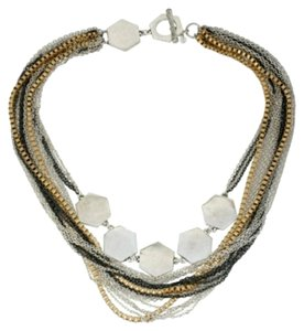 Kenneth Cole NEW KENNETH COLE Tri-Tone Mixed Chain Toggle Necklace Reg $65!
