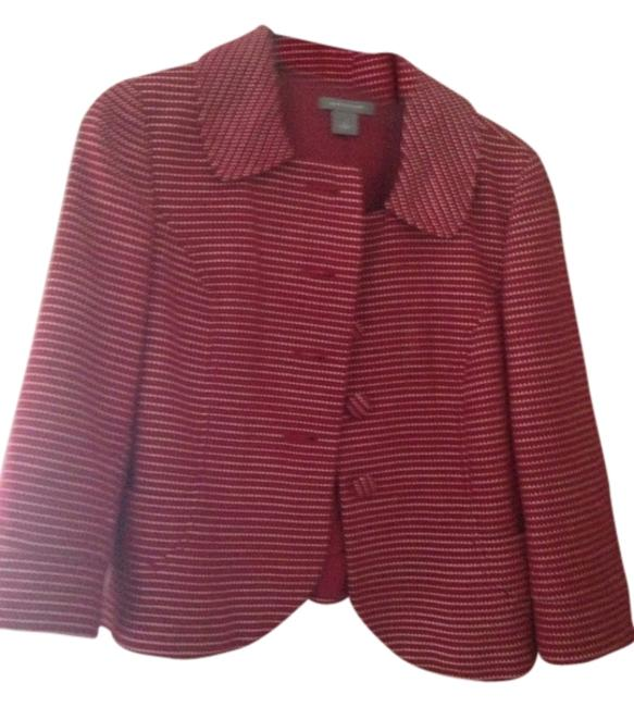 Item - Red Cropped Jacket Skirt Suit Size 6 (S)