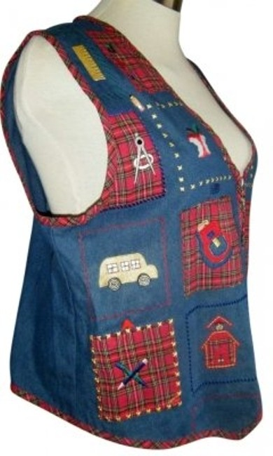 Preload https://item2.tradesy.com/images/dress-barn-blue-denim-look-1x-applique-school-teacher-theme-vest-size-20-plus-1x-175501-0-0.jpg?width=400&height=650