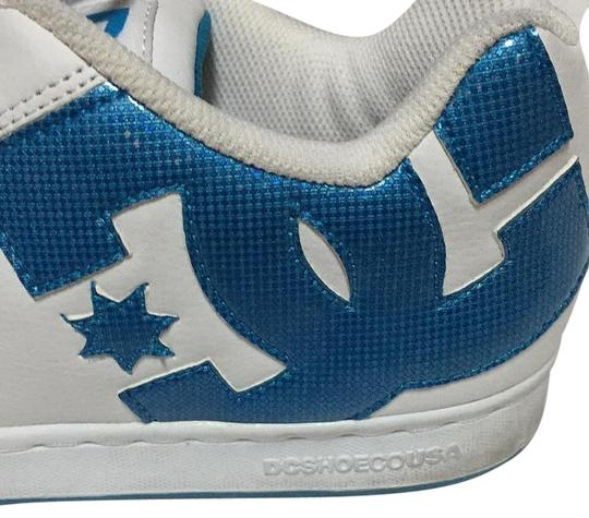 DC Shoes White Blue Sneakers Size US 7
