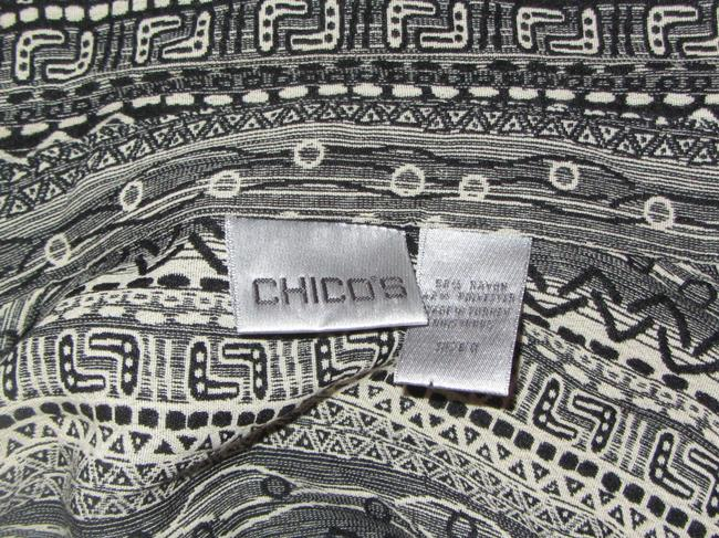Chico's Top black with print