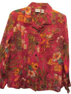 Chico's Top red multi