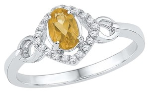 Other Ladies Luxury Designer 10k White Gold 0.50 Cttw Diamond & Citrine Gemstone Fashion Ring By BrianGdesigns |