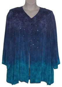 Diane Gilman Silk Sequins Cruise Wear Tunic