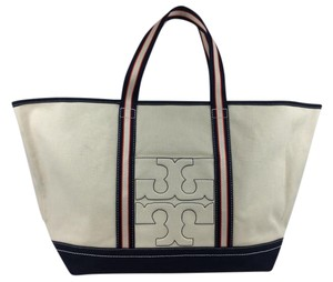 Tory Burch Bombe Tote in Ivory