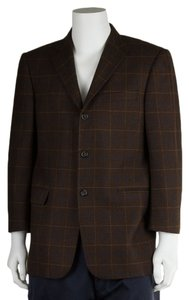 Burberry Men's Plaid Wool Brown Blazer