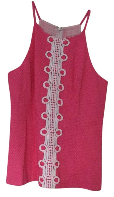 Item - Shift Top. Pink and White Top