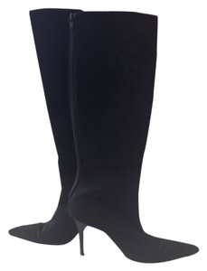 Manolo Blahnik Knee High Black Boots