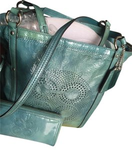 Coach Wallet Audrey Wristlet Tote in Lagoon Blue Green