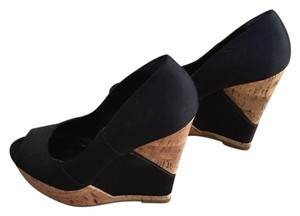 BCBGeneration Black with brown wedge Wedges