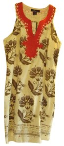 Alberto Makali short dress Multi-Color Cotton Floral Embellished Lined Sleeveless on Tradesy