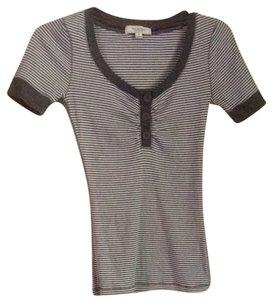 Active Basic T Shirt Gray & White