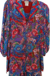 Price Reduction! Diane Freis Ltd. Floral Reduction Scarf Dress