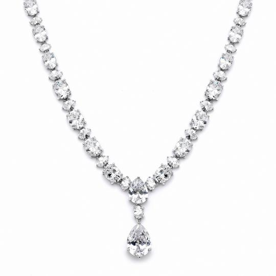 Hollywood Glamour Stunning Pear Drop Crystal Necklace