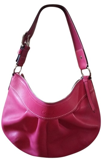 Preload https://item4.tradesy.com/images/coach-pink-leather-hobo-bag-1755618-0-0.jpg?width=440&height=440