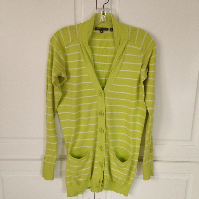 Preload https://item4.tradesy.com/images/vince-cardigan-lime-green-and-white-stripes-1755623-0-0.jpg?width=400&height=650