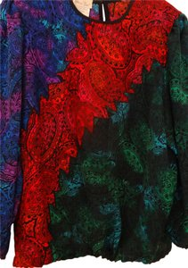 Diane Freis Ltd. Peasant Top Multi Jewel Tones