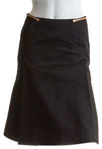 Burberry Blue Label Cotton Gored Skirt Black