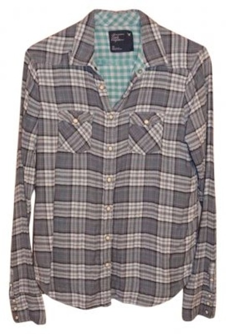 Preload https://img-static.tradesy.com/item/175586/american-eagle-outfitters-gray-perfect-flannel-button-down-top-size-10-m-0-0-650-650.jpg