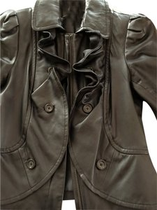 INC International Concepts New Leather Lambskin Leather Jacket