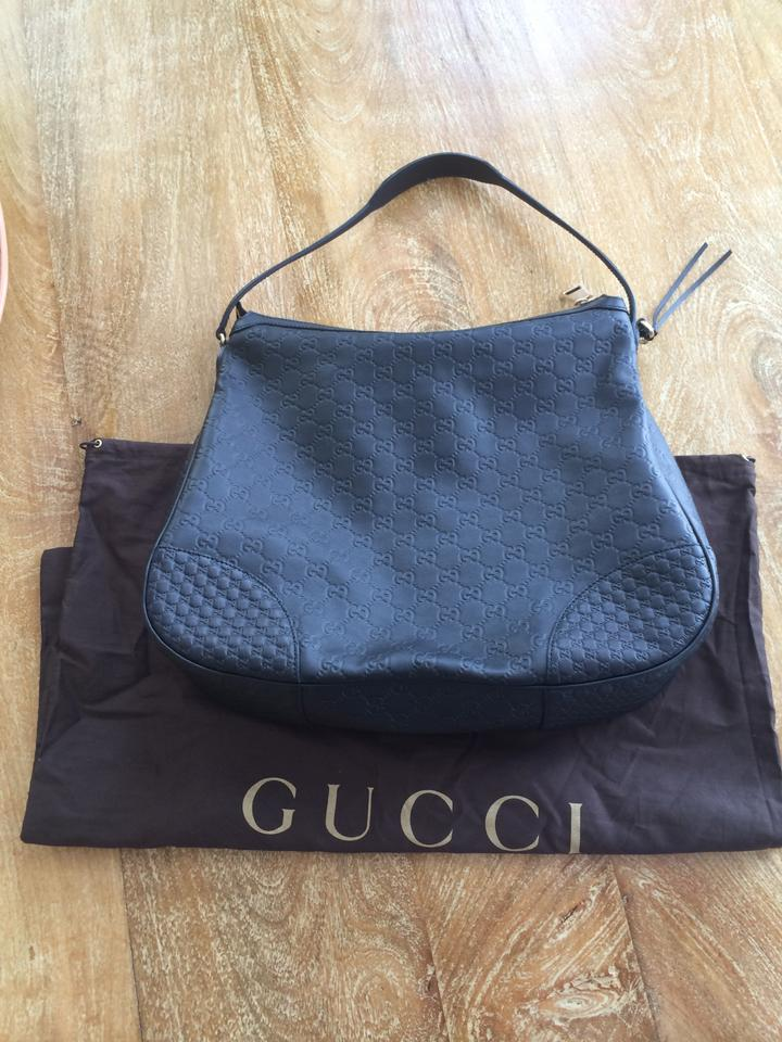 c4f0ae4e960 Gucci Bree Black Guccissima Leather Hobo Bag - Tradesy
