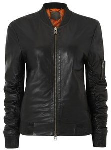 Muubaa Leather Bomber London black Jacket