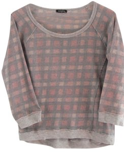 Eyeshadow Plaid Casual Sweatshirt Sweatshirt