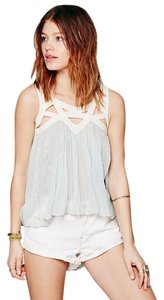 Free People Bohemian Flowy Summer Beachy Top Mint