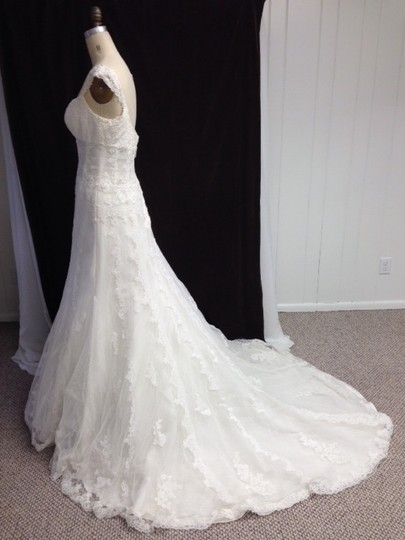 Preload https://img-static.tradesy.com/item/1756346/pronovias-off-white-light-ivory-lace-tulle-all-sexy-1214-sheer-built-in-corseting-tank-straps-femini-0-0-540-540.jpg