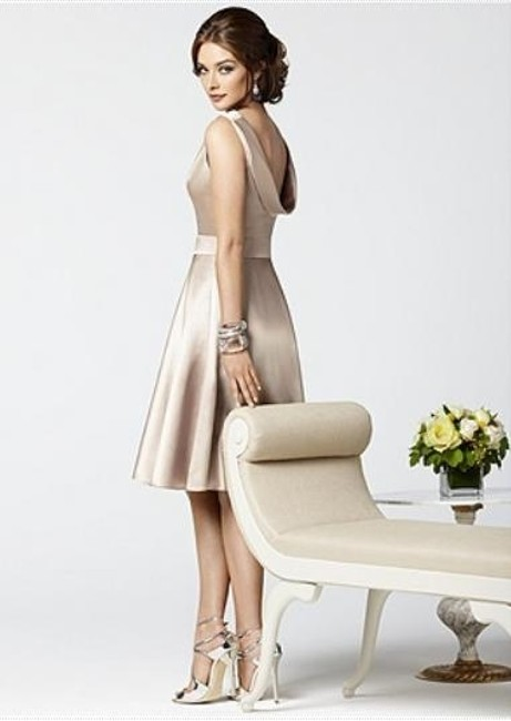Dessy Sleeveless Satin Dress