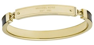 Michael Kors LAST ONE Tortoise Shell & Gold-Tone Plaque Hinged Bangle